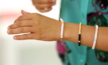 DIY Sequined-String Bracelets