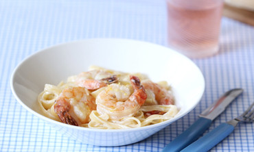 Fettuccini and Shrimp Alfredo