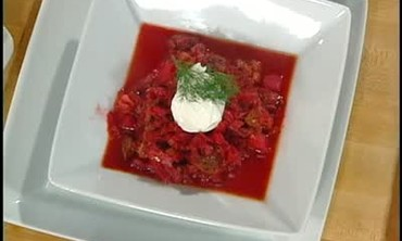 Homemade Russian Beef Borscht