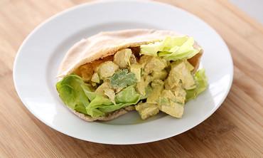 Lighter Curried Chicken Salad