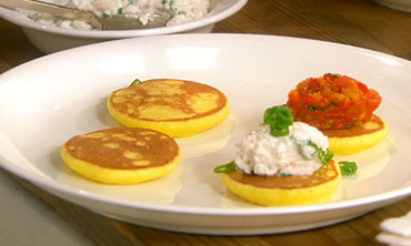 Potato Blini with Eggplant Caviar