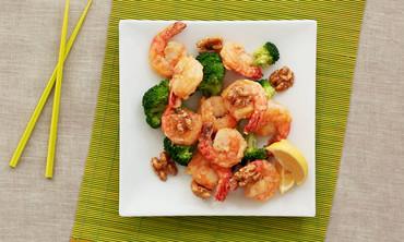 Sriracha-Honey-Walnut Shrimp