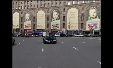 A Stylish Drive Through Moscow