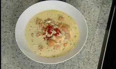 Crab Chowder with Sweet Potato