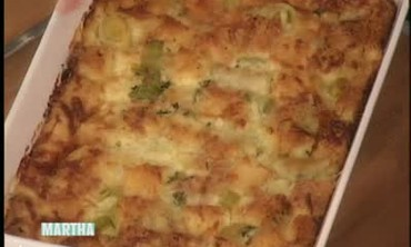 How to Make Leek Bread Pudding