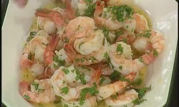 Lemon and Garlic Shrimp Dinner