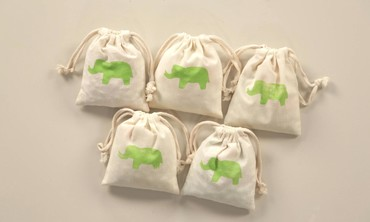 Potato Printing Take-Away Canvas Bags