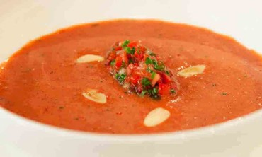 Refreshing Strawberry Gazpacho