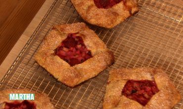 Rhubarb and Raspberry Galettes