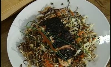 Salmon and Lentil Sprout Salad