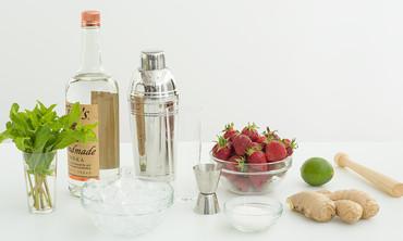 Strawberry-Ginger Caipiroska