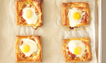 Tomato, Egg, and Proscuitto Tart