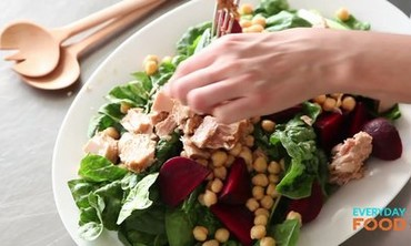 Tuna, Chickpea, and Beet Salad