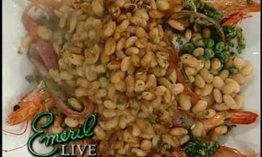 Vinegar White Beans and Scampi