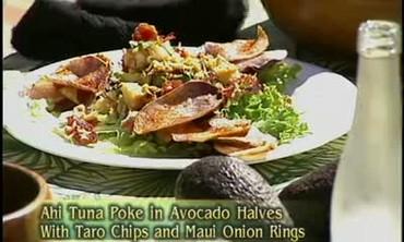 Ahi Tuna Poke in Avocado Halves