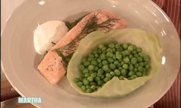Bamboo Steamed Salmon with Dill