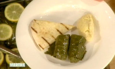 Brown Rice-Stuffed Grape Leaves
