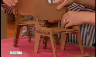 Cardboard Doll Table and Chairs
