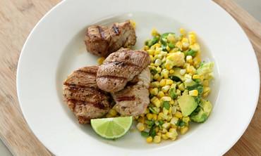 Chili-Lime Pork with Corn Salad