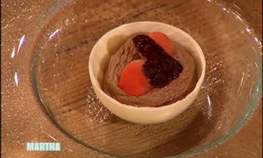 Cocoa Tuiles and Poached Quince
