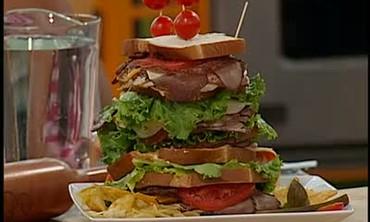Dagwood Stacked Sandwich Recipe