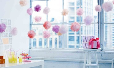 DIY Tulle Pouf Garland Tutorial