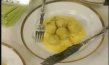 Fish Dumplings with Lemon Sauce
