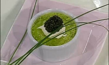 Flan with Sour Cream and Caviar