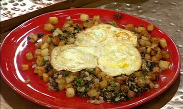 Fried Eggs and Spicy Home Fries