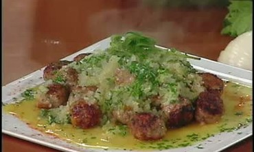 Greek Mint and Ouzo Meatballs