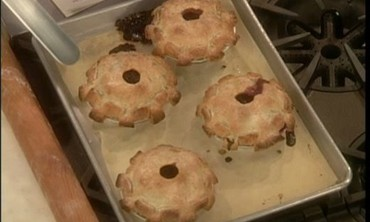 Individual Fresh Blueberry Pies