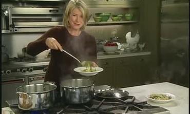 Making Tortellini en Brodo Soup