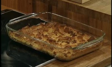 Andouille and Corn Bread Pudding