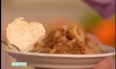 Apple Brown Betty with Ice Cream