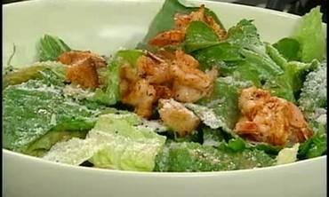 Caesar Salad with Grilled Shrimp