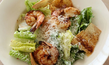 Caesar Salad with Spicy Shrimp