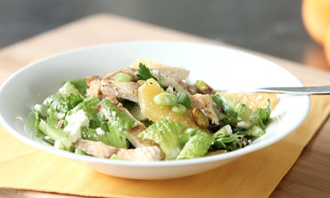 Chicken, Feta, and Pistachio Salad