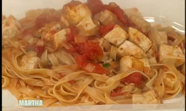 Fettuccini with Seared Swordfish