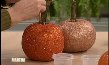 Glitter Pumpkins and Easter Eggs