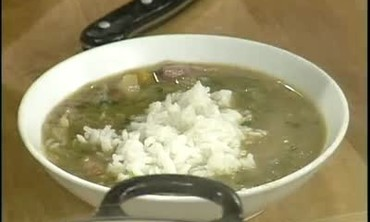 Gumbo with Cabbage and Ham Hocks