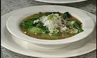 Gumbo Zerbes With Ham and Greens
