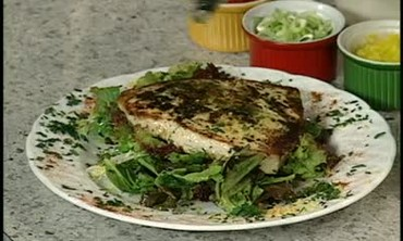 Lemon and Herb Crusted Swordfish