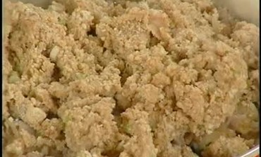 Oven Baked Bread Crumbs and Clam