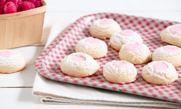 Pink Lemonade Thumbprint Cookies