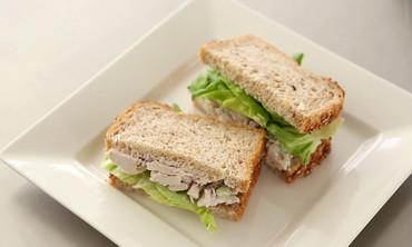 Poached-Chicken-Salad Sandwiches
