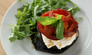Roasted Portobello Caprese Salad