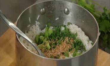 Scallion and Cilantro White Rice