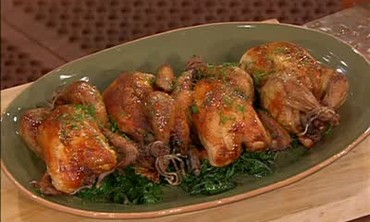 Stuffed Cornish Hens and Mussels