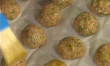 Turkey Meatballs with Yogurt Dip
