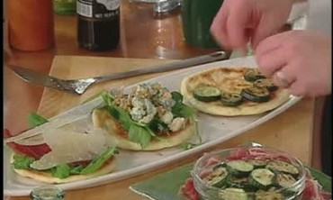 Arugula Salad on Flatbread Recipe